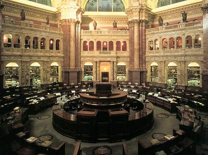 The Main Reading Room at the Library of Congress