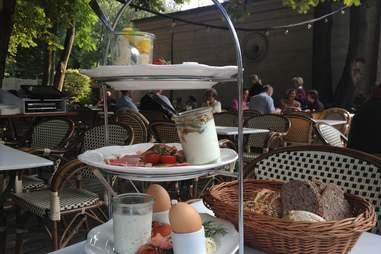 Breakfast tier at Cafe am Neuen See