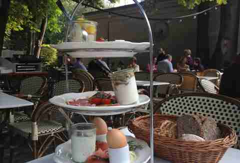 Breakfast tier at Cafe am Neuen See