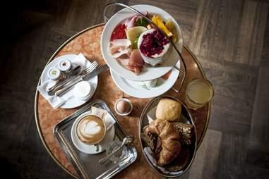 Platter of food from Cafe Einstein