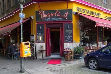 Exterior of Cafe Morgenland