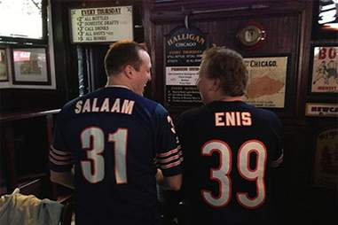 Curtis Enis and Rashaan Salaam jerseys