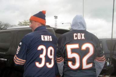 Bryan Cox and Curtis Enis jerseys