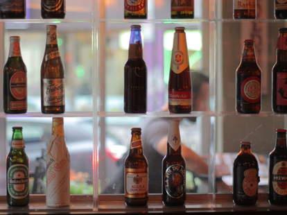 Beer bottles at Biere & Compagnie