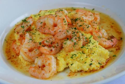 shrimp and grits -- Aqua Blue - Atlanta