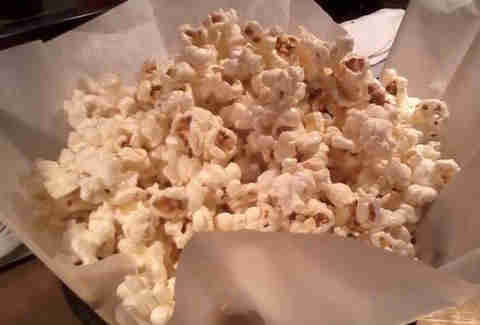 Truffle popcorn at Square 1682 at the Hotel Palomar