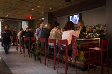 The bar at Square 1682 at the Hotel Palomar