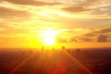 the sun over australia
