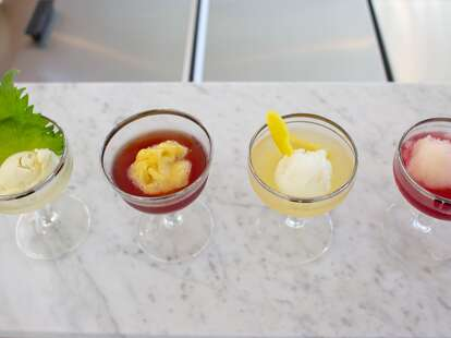 Four cocktails at Fifty Licks in Portland