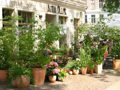 Outdoor seating area at Cafe Anna Blume