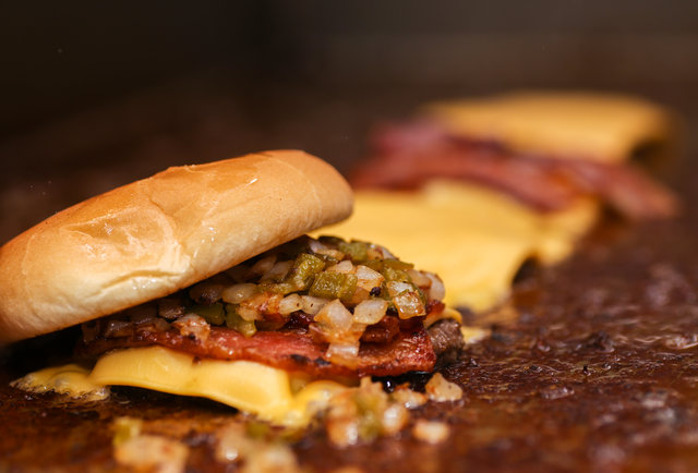 Behold the P. Scary: A massive, four-patty P. Terry\'s burger