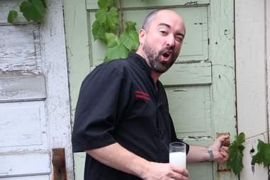 Chef Stewart Woodman at Heidi's in Uptown, Minneapolis, Minnesota