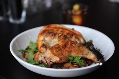 grilled rocky junior half-chicken at Acorn