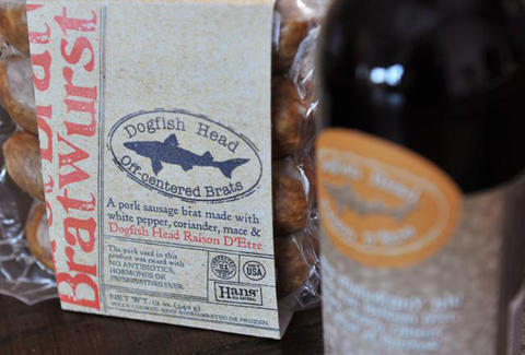 Dogfish Head beer brats