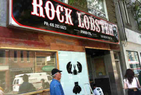Rock Lobster exterior sign