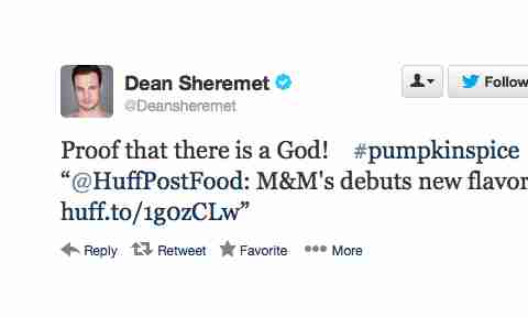 Pumpkin Spice M&Ms Twitter reaction Dean Sheremet