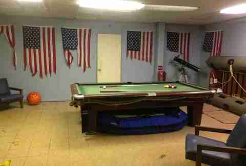 Pool table inside The Frying Pan