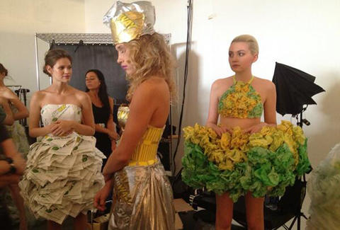 Project Subway NY Fashion Week backstage