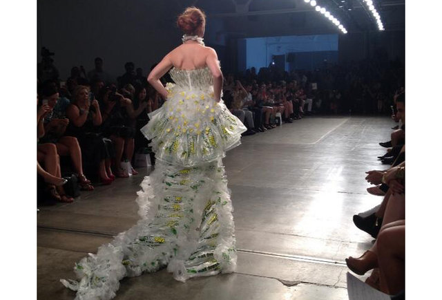 Subway wrappers are now couture, thanks to this bonkers fashion show