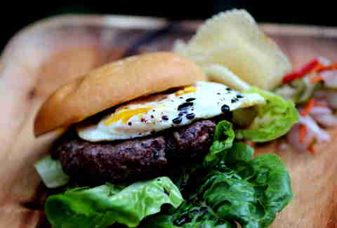 Foreign Cinema Balsamic Egg Burger