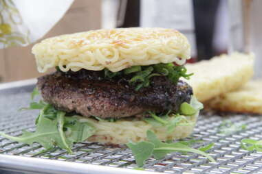 the ramen burger from Smorgasburg