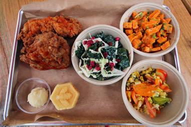 Chicken platter at Honey Butter Fried Chicken in Avondale