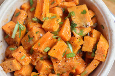 Roasted sweet potatoes at Honey Butter Fried Chicken in Avondale