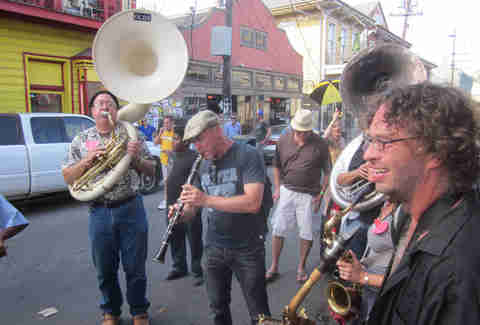 A band on Frenchman Street