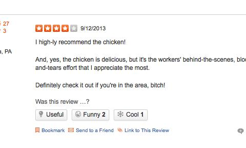Los Pollos Hermanos Yelp review Breaking Bad