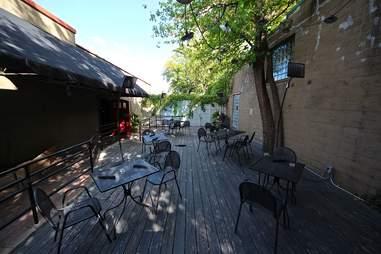 The patio at Heidi's in Minneapolis, Minnesota.