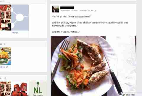 foodie Facebook post