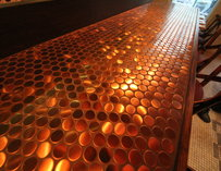 A copper floor