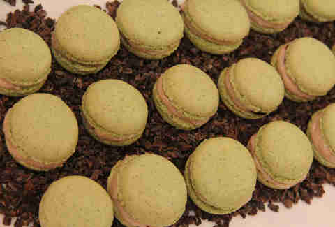 Savory macarons at Lacroix