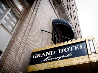 Grand Hotel front sign