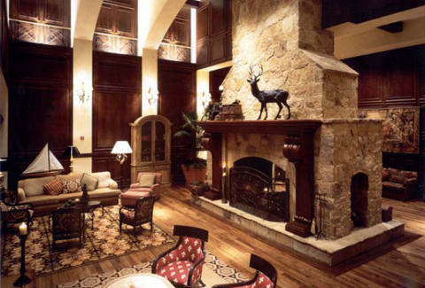 The Houstonian fireplace