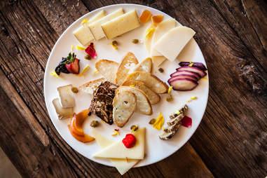 Cheese plate at AVANT at the Rancho Bernardo Inn in San Diego, CA.