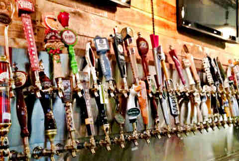 Taps and TVs at BarLy