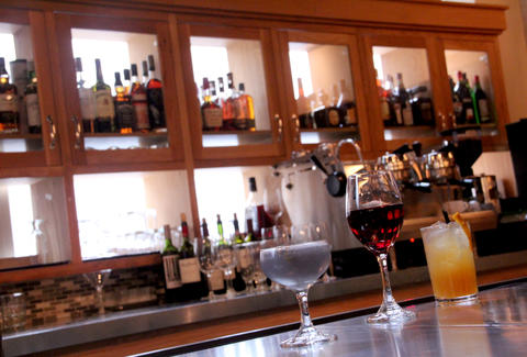 Classic and wine cocktails on the bar at Garces Trading Co