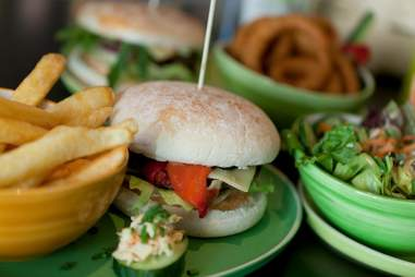 Hans im Glück burger and fries