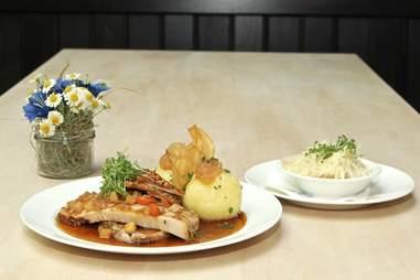 German cuisine at Tegernseer Tal Brauhaus