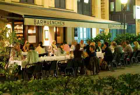 Patio dining at Bar Muenchen
