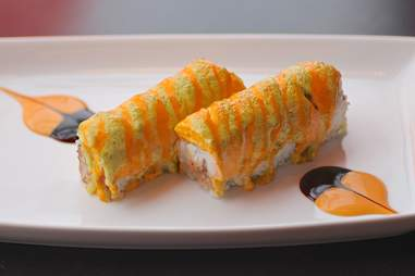 Baked Alaskan roll at Eat Street Buddha in Minneapolis, Minnesota.