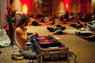 dj at yoga