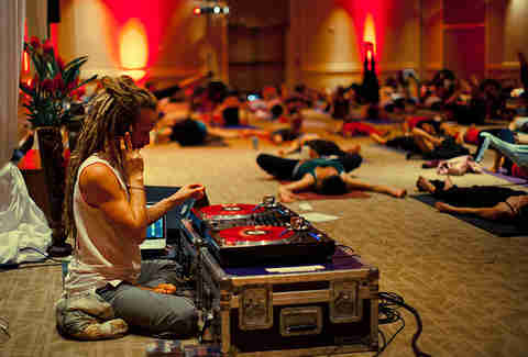 dj at yoga