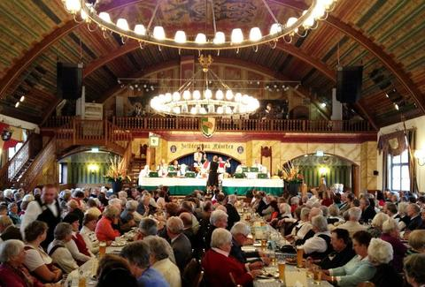 Inside of the Hofbrauhaus