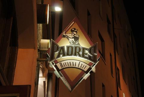 Padres sign outside
