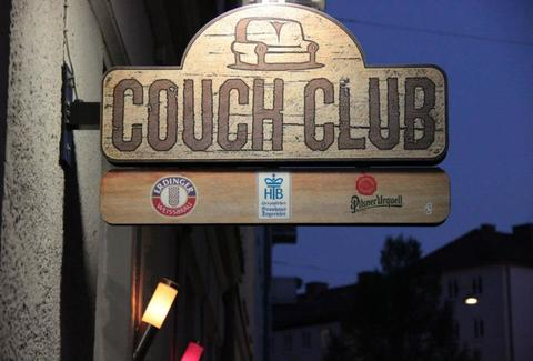 Sign outside Couch Club