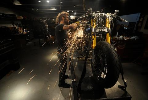 Revival Cycles motorcycle sparks