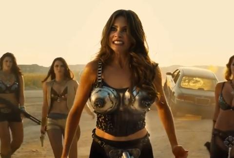 Machete Kills Sofia Vergara machine gun