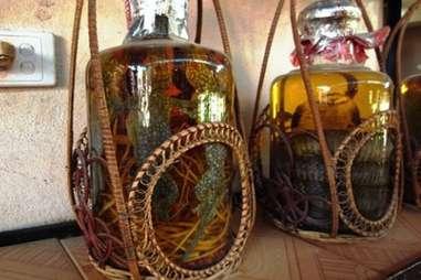 Chinese Lizard wine Hejie Jiu.